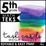 5th Grade Math TEKS Task Cards   Mega Bundle   Editable