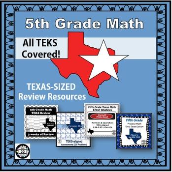 5th Grade Math STAAR Bundle REVISED {Texas Edition}