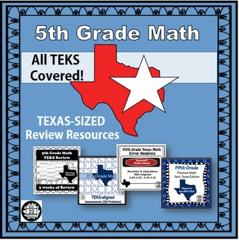 5th Grade Math STAAR Bundle {Texas Edition}
