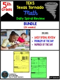 5th Grade Math TEKS Texas Tornado: Daily Spiral Review BUNDLE