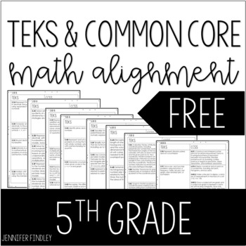 Free tools for common core teacher manuals resources lesson plans 5th grade math teks to common core alignment fandeluxe Gallery