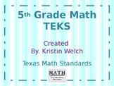 5th Grade Math TEKs