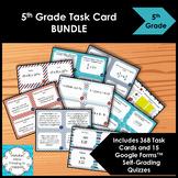 5th Grade Math Task Cards BUNDLE | Includes 15 Digital Quizzes
