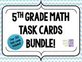 5th Grade Math Task Cards Bundle!