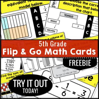 Math Task Cards 5th Grade FREE