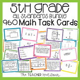 5th Grade Math Task Cards Mega Bundle | 5th Grade Math Centers