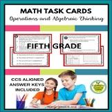 5th Grade Math Task Cards - Operations and Algebraic Thinking
