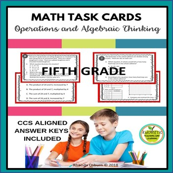 5th Grade Math Task Cards - Operations and Algebraic Thinking