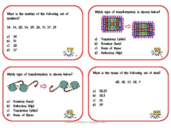 5th Grade Math Task Cards (Please rate after downloading)