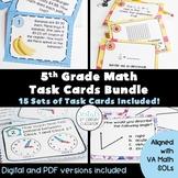 5th Grade Math Task Cards (VA Math SOLs) {Digital & PDF Included}