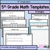 5th Grade Math Templates