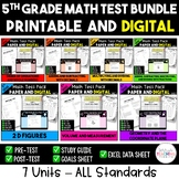 5th Grade Digital and Printable Math Test Bundle - Distance Learning