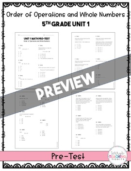 5th Grade Math Test Bundle {Paper and Pencil}