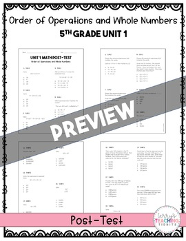 5th Grade Math Test Bundle {Paper and Pencil}