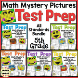 5th Grade Math Test Prep Mystery Pictures - All Standards Mega Bundle