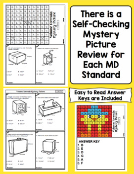 5th Grade Math Test Prep Mystery Pictures - Measurement and Data