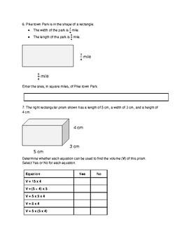 5th Grade Math Test Prep: (SBAC, PARCC, TCAP): Year-End Practice Assessment