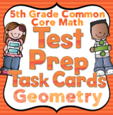 5th Grade Math Test Prep Task Cards: 5th Grade Geometry