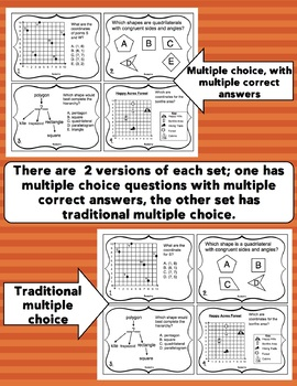 5th Grade Math Test Prep Task Cards: 5th Grade Geometry
