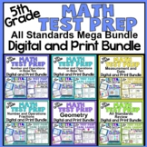 5th Grade Math Test Prep Task Cards: All Standards Digital