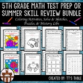 5th Grade Math Test Prep or Summer Skill Review Bundle