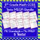 5th Grade Math Tests Digital + Paper MEGA Bundle: Google + PDF Tests, 5th Grade
