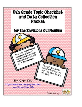 5th Grade Math Topic Checklist for the Envisions Curriculum