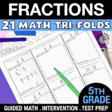 5th Grade Fractions (add, subtract, multiply & divide)  - 5.NF.1-5.NF.7