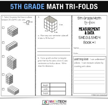 5th Grade Math TriFolds - 5 FREE Booklets