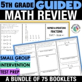 5th Grade Guided Math | 5th Grade Math Review Distance Learning Packet