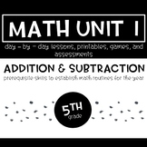 5th Grade Math Unit 1 Addition and Subtraction and Norms