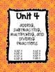 5th Grade Math Unit Binder Covers