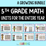 5th Grade Math Bundle for the YEAR
