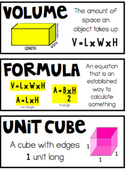 5th Grade Math Vocabulary Bundle