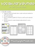 5th Grade Math Vocabulary Bundle