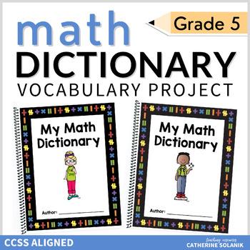 5TH GRADE MATH VOCABULARY COMMON CORE ~MY MATH DICTIONARY & TEACHER PLC TOOLS