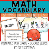 5th Grade Math Vocabulary Memory Cards Unit 2