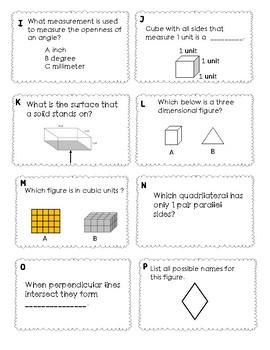 5th Grade Math Vocabulary-- Module 5