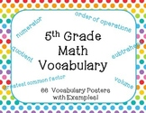 5th Grade Math Vocabulary Posters