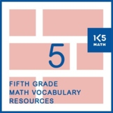 5th Grade Math Vocabulary