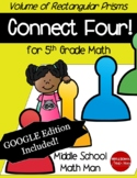 5th Grade Math Game Volume of Rectangular Prisms Connect F