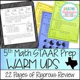 5th Grade Math Warm Ups - STAAR Prep