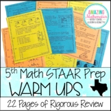 5th Grade Math Warm Ups - STAAR Review & Prep