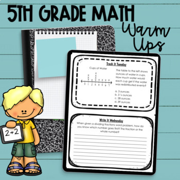 5th Grade Math Warm Ups for the Whole Year!