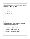 5th Grade Weekly Math SOL Review #3