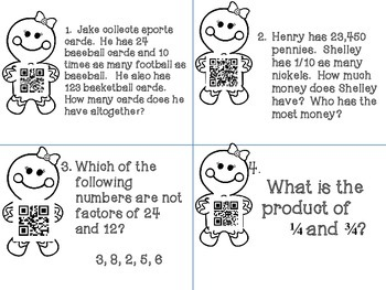 5th Grade Math Winter Activity Packet