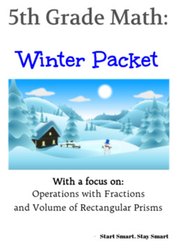 5th Grade Math Winter Packet - Fractions and Geometry
