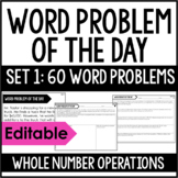 5th Grade Math Word Problems | Word Problem of the Day {Set 1}