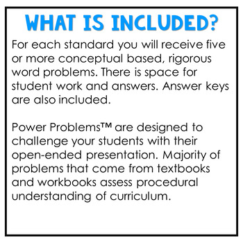 5th Grade Math Word Problems ALL STANDARDS Math Word Problems 5th Grade NO PREP