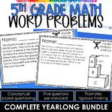 5th Grade Math Word Problems ALL STANDARDS Math Word Problems 5th Grade Bundle